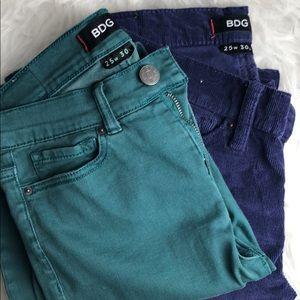 BDG high rise jeans/pants, size 25W